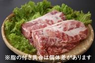 【117-022】山形県庄内SPF豚最上川ポーク肩ロースブロック4kg