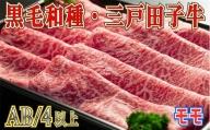 【黒毛和牛A4・B4等級以上】「三戸田子牛」モモスライス380g