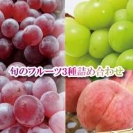 030070. 旬のフルーツ3種詰め合わせ(シャインマスカット、デラウェア・白桃)