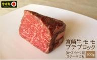 <宮崎牛>モモ肉ブロック300g※90日以内出荷【B330】
