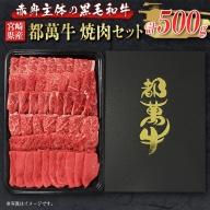 赤身主体の黒毛和牛<都萬牛>焼肉セット500g【B107】