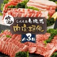 【全3回】しんとみお肉の定期便(牛・豚セット)【D10】