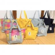 遠州浜松産 老舗織り屋のトートバッグ(中)4色展開