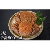 北海道産浜茹で毛がに2尾セット(大)【計800g~1kg】