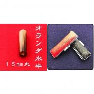 オランダ水牛15mm(7書体)牛革ケース(赤)