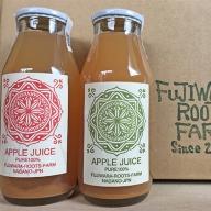 fujiwara roots farm オリジナルりんごジュース 180mL 12本