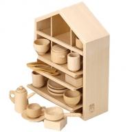 木製知育玩具 ままごとあそびハウスセット 8021-4