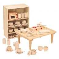 木製知育玩具 抗菌ままごとあそびテーブルセット 8011-5