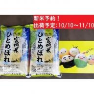 新米・蔵王産ひとめぼれ10kg(精米・5kg×2)