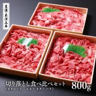 E-48 (合計1kg)豊後・米仕上牛切落し食べ比べセット【豊後高田市限定】