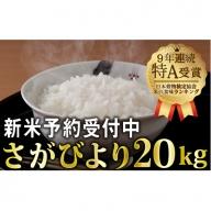 D-367 一等米!!令和元年産 新米さがびより20kg (5kgx4袋)【先行予約】