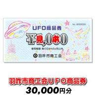 [G037] 羽咋市商工会UFO商品券(30,000円分)【現地利用限定】