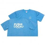逗子オリジナル 速乾性ドライTシャツ (ZUSHI LOCAL) ヘザーブルー