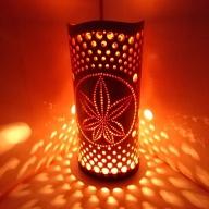 竹あかり カエデB-2(表皮剥ぎタイプ) / 行灯 照明 間接照明 天然素材 竹細工