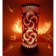 竹あかり カザグルマC-1(表皮焦がしタイプ) / 行灯 照明 間接照明 天然素材 竹細工