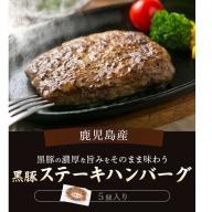 Z-514 鹿児島県産黒豚ステーキハンバーグ3個入り