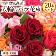 AL01_生産農家直送!大輪のバラ花束 20本セット