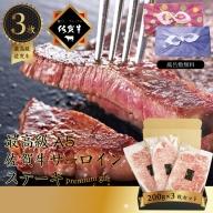 G−045.佐賀牛 サーロインステーキ 200g/3枚 ギフト