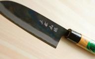 三徳包丁黒打 欅柄付165mm C-198