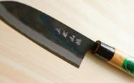 ★野菜・肉・魚に万能な1本 三徳包丁黒打青一号 C-146