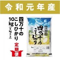 19-534C.【新米】【5回定期便】四万十のこしひかり 10kg【9月限定】
