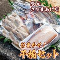 【13178】海の恵みがお日さまをたっぷり食べた干物セット(3種以上) 志布志湾で育ったカマス・アジ・舌平目など!新鮮な魚を丁寧に天日干しに【隈元さつまあげ店】
