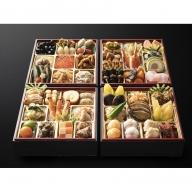 F022.日本料理てら岡・おせち「博多鶴与段重」(4~5人前)