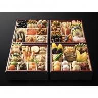 G006.日本料理てら岡・おせち「博多鶴与段重」+博多水炊きセット(4~5人前/鍋3~4人前)