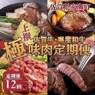 【上撰】佐賀牛・県産和牛 極味肉定期便