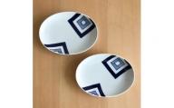 A20-137 有田焼 出番の多い楕円皿2枚セット(EDO) ギャラリーフジヤマ