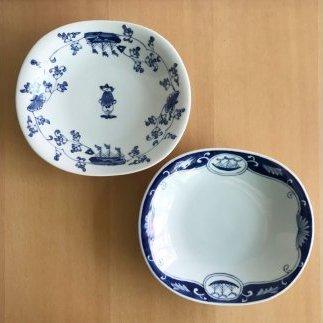 A45-49 有田焼 形もユニークなカレー皿2枚セット・パート2 ギャラリーフジヤマ