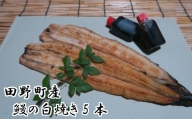 田野町産うなぎの白焼き5本