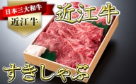 極上近江牛すきしゃぶ用赤身(モモ)【500g】【AG04SM】