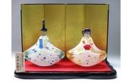 マルティグラス ガラス置物 飾雛 OH-014P[A2111]