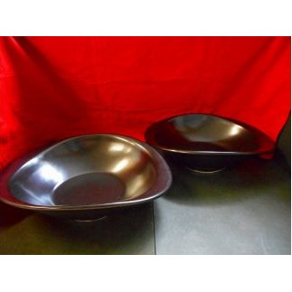 A25-129黒マット使用のカレー皿2枚カーボンゼロ