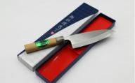 出刃包丁片刃 桜柄付165mm L-17