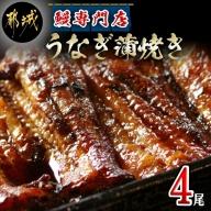 鰻専門店・職人手焼きの本格うなぎ蒲焼き4尾_AD-3301