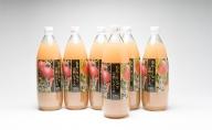 津軽のももとりんごの完熟ジュース1L×6本