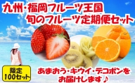 C048.先行受付【人気】九州・福岡フルーツ王国.旬のフルーツ定期便Hセット