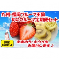B129.【人気】九州・福岡フルーツ王国.旬のフルーツ定期便Kセット