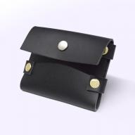 S-001 名刺入れ ブラック/カードケース 名刺ケース 合皮 シンプル カードホルダー ポイントカード 30枚収納 ふるさと納税