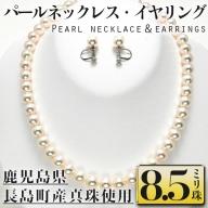 パールネックレスとイヤリングセット8.5ミリ珠_otsuki-353