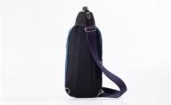 豊岡鞄 帆布×皮革ワンショルダー(24-132) ブルー