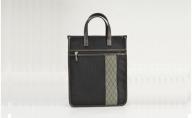鞄の國 和柄帯縦型トート (01022-01) 黒
