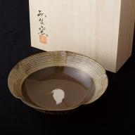 X527 白鷺文菓子鉢