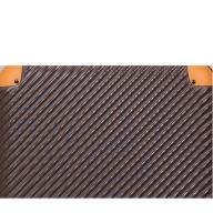 X558 ABS7352スーツケース(Sサイズ・ココア×オレンジ)