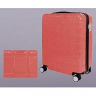 X575 スマートフォン充電用コネクタ搭載スーツケース(スカーレット)