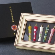 X580 世界文化遺産登録記念和蝋燭(額入碇型2匁和蝋燭5本入)