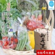 えひめ未来農業協同組合ブランド米「新居の恵み(ヒノヒカリ)」5kgと季節の野菜約2kgセット(クール便でお届け)