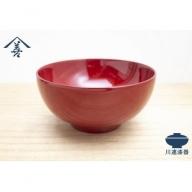 A9203 【川連漆器】東京汁椀(朱)
